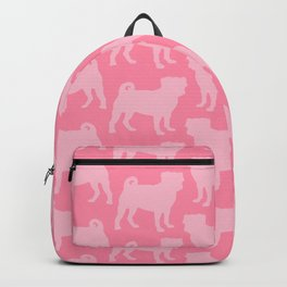 Pastel Pink Pugs Pattern Backpack