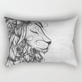 Poetic Lion B&W Rectangular Pillow