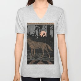Wolf in the Night By Ivan Biblin Unisex V-Neck