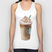starbucks Tank Tops featuring Starbucks clean by Amit Naftali