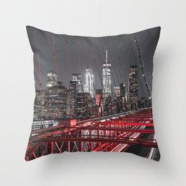 New York City Night Sky Throw Pillow