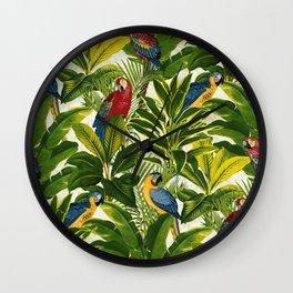 Fantastic Parrots Wall Clock
