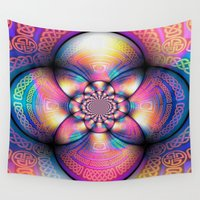 celtic Wall Tapestries featuring Celtic Circle by Wired Circuit