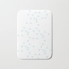 White_Blue_Triangles Bath Mat