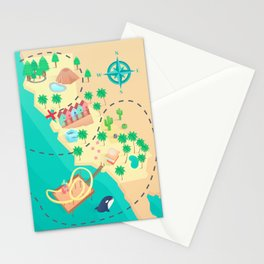 California Treasure Map Stationery Cards