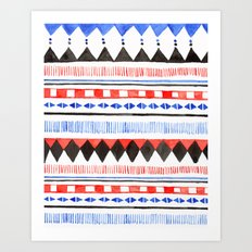 Tribal pattern Art print Art Print