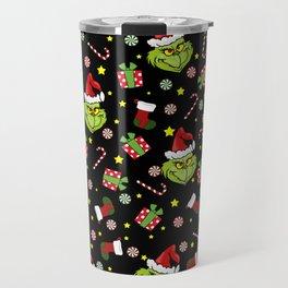 Grinch pattern Travel Mug