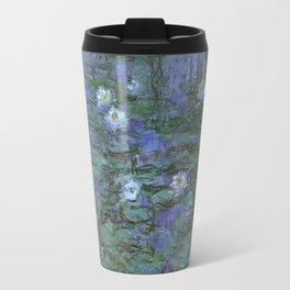 1916-Claude Monet- Blue Water Lilies-200 x 200 Travel Mug
