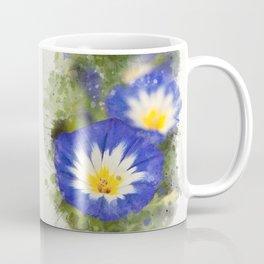 Watercolor Morning Glories Coffee Mug