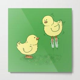 Spring Chicken Metal Print