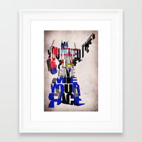 optimus prime Framed Art Prints featuring Optimus Prime by A Deniz Akerman