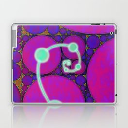 Dark Fibonacci Spiral Fractal Laptop & iPad Skin