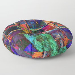 Canvas Abstract Deux Floor Pillow