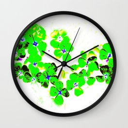 Green Heart Wall Clock
