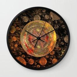 Orange Bubble Wall Clock