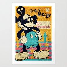 Tricky Mickey Art Print