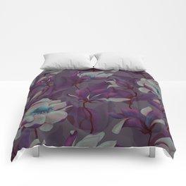 magnolia bloom - nighttime version Comforters