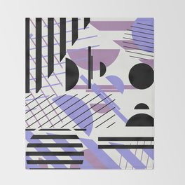 Shape Central - Geometric Abstract Pattern Throw Blanket