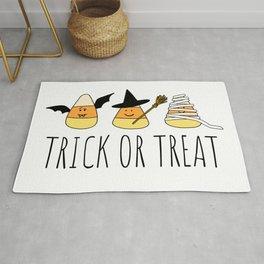 Cute Candy Corn Halloween Rug