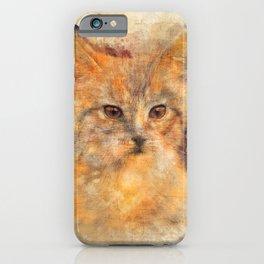 Ginger cat art iPhone Case