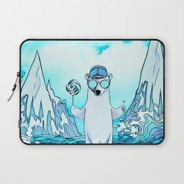 Polar bear on the surf board Laptop Sleeve