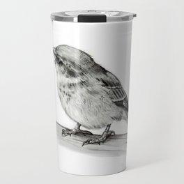 Small Bird in Pencil, Wildlife Art Travel Mug