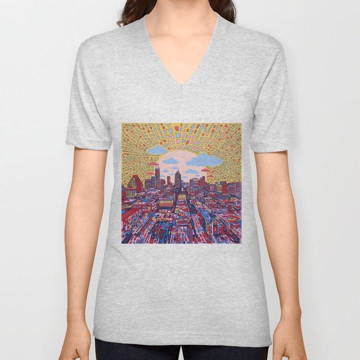 austin texas city skyline Unisex V-Ausschnitt