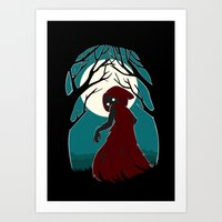 red riding hood Art Prints featuring Red Riding Hood 2 by Freeminds