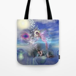 A novel can be a portal into parallel realities Tote Bag