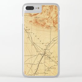 Vintage Map of The Las Vegas Valley NV (1907) Clear iPhone Case