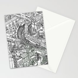 The Town of Train 2 Stationery Cards