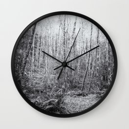 Cottonwoods in the Forest Wall Clock