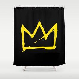 Basquiat crown Shower Curtain