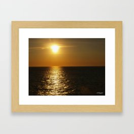 Horizontal Horizon  Framed Art Print