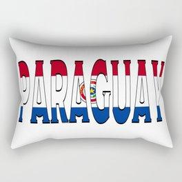 Paraguay Font With Paraguayan Flag Rectangular Pillow