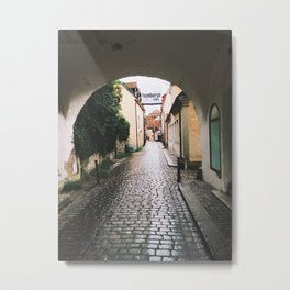 Visby Street Metal Print