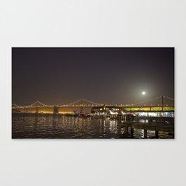 Super Moon over the San Francisco Bay Bridge Canvas Print