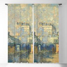"""Claude Monet """"Extérieur de la gare Saint-Lazare"""" (""""The Gare St. Lazare - Sunlight Effect"""") Blackout Curtain"""
