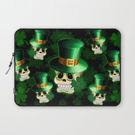 St Patrick Skull Cartoon  Laptop Sleeve