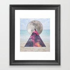 cosmic beach Framed Art Print