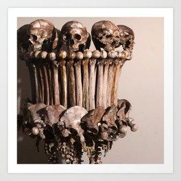 Catacomb Culture - Human Skull Bone Lamp Art Print