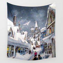 Snowy Hogsmeade Wall Tapestry