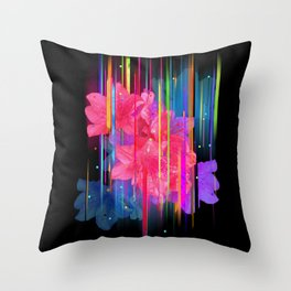 Night Blooming Bouquet Throw Pillow