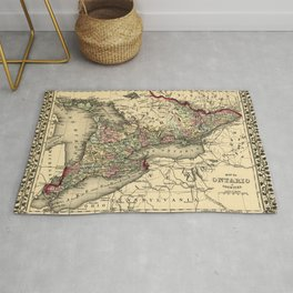 Map Of Ontario 1874 Rug