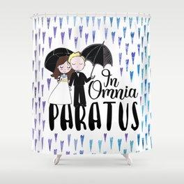 In Omnia Paratus Shower Curtain
