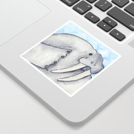 Cute Walrus Close Up Sticker