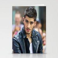 zayn malik Stationery Cards featuring Zayn Malik by behindthenoise