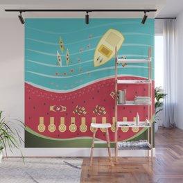 Summer Fun at the Watermelon Beach Wall Mural