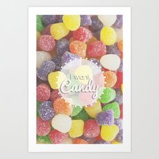 I Want Candy: Gumdrops Art Print