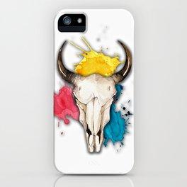 Watercolor Skull iPhone Case